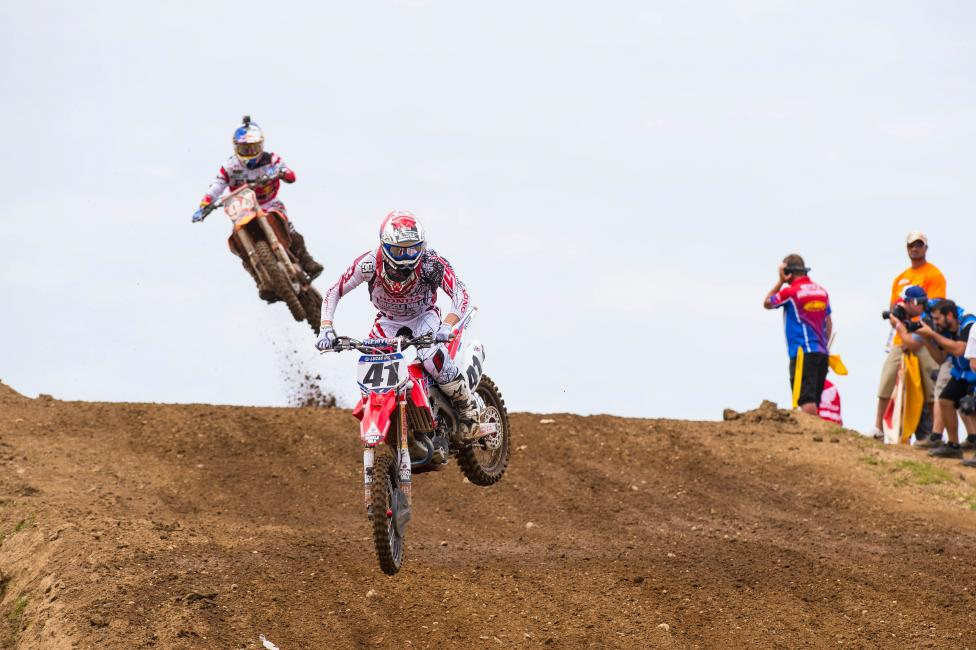 Although Canard lead for 12 minutes in Moto2 at RedBud, he still wants more.