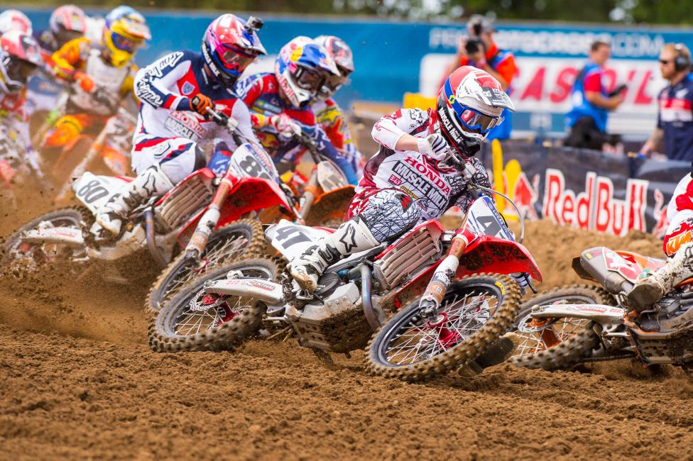 Canard fought to the front at RedBud.  Photo: Simon Cudby