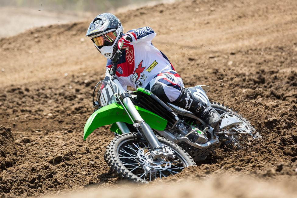 Ping hadn't ridden a 250 much this year, but was impressed with what the latest Kawi has to offer.Photo: Matt Francis