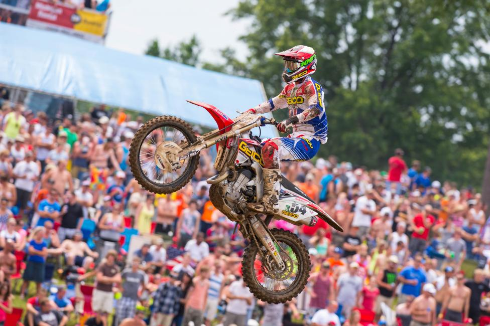 Christian Craig made his 2014 debut at RedBud with GEICO Honda. Photo: Simon Cudby