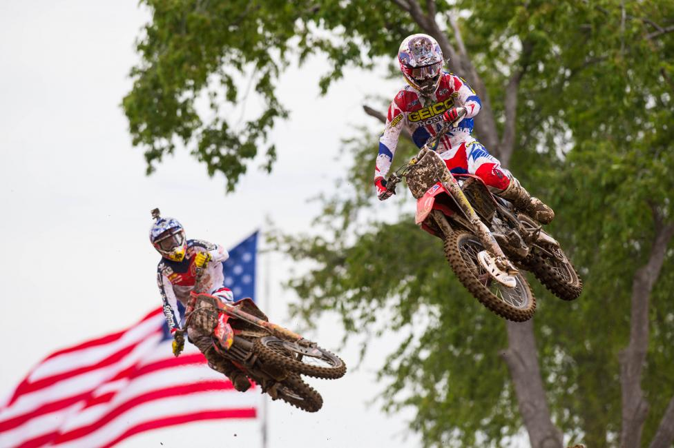 Matt Bisceglia jumped out front for the first time in his career at RedBud. Photo: Simon Cudby