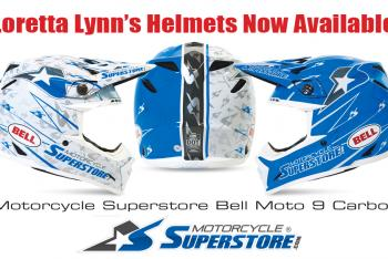 MotorcycleSuperstore Bell Helmet Program for Loretta Lynns