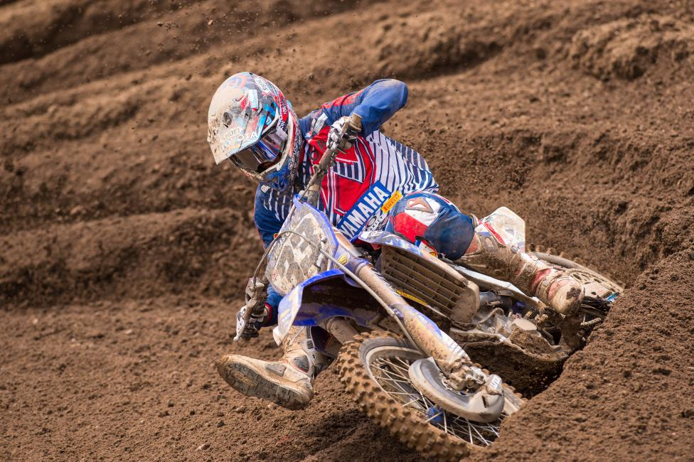 Former RedBud winner Grant had some rough luck, but still toughed out a good result.Photo: Simon Cudby