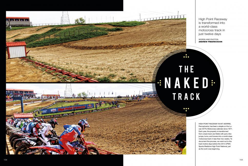 "Read ""The Naked Track"" in the September 2014 issue of Racer X.Photo: Andrew Fredrickson"