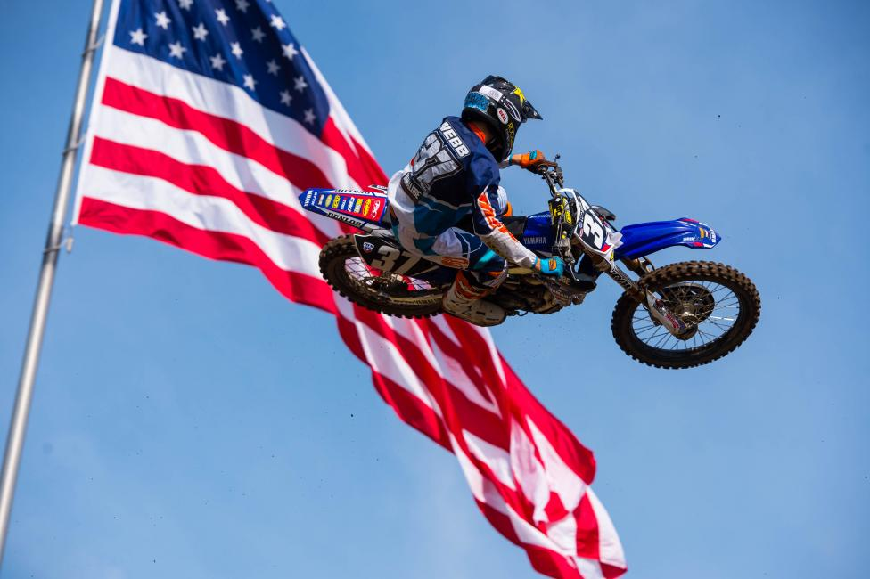 Cooper Webb looks to cut into Jeremy Martin's points lead this weekend.