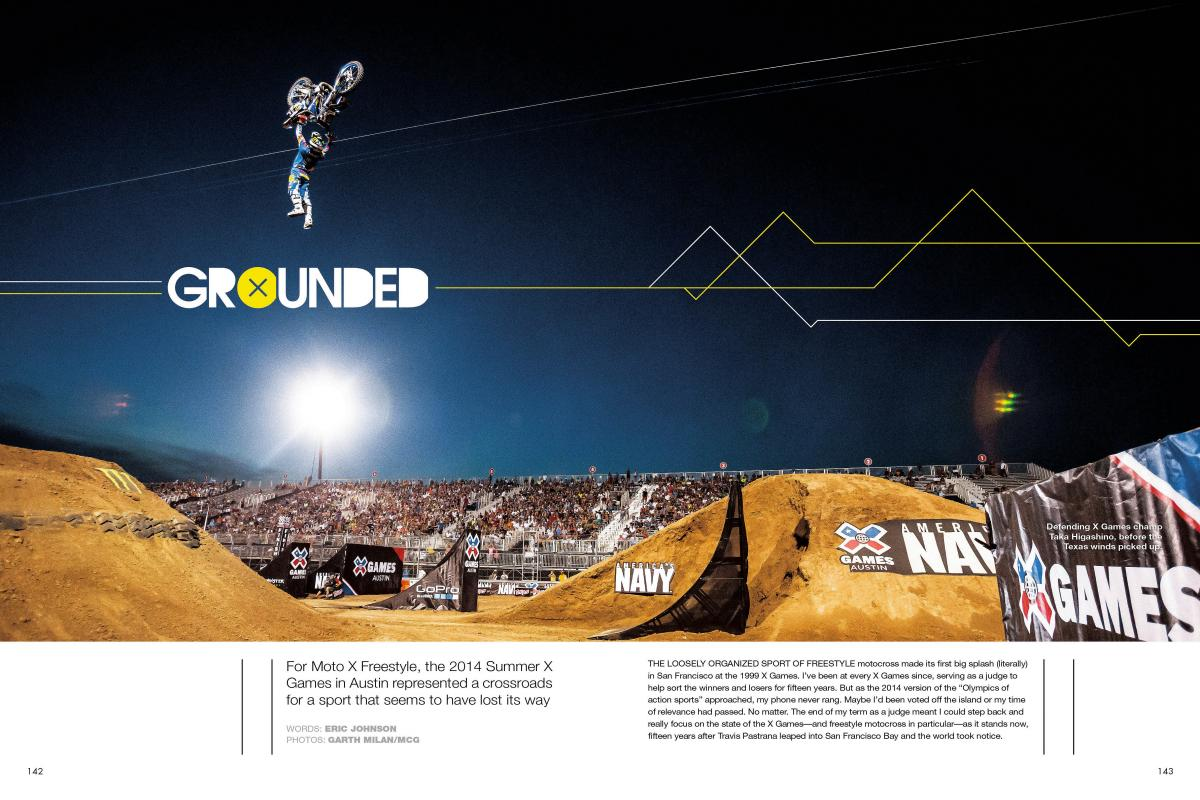 Moto X Freestyle was once the highlight of ESPN's X Games, but weather problems shut it out of Austin this year. Is freestyle still relevant? Page 142