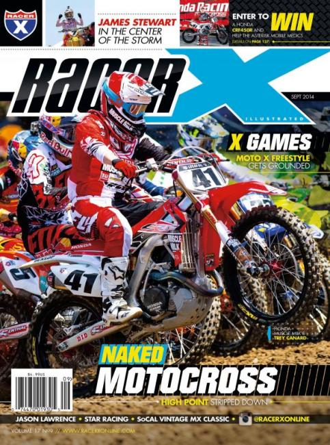 Trey Canard graces the new cover of Racer X Illustrated. Photo: Simon Cudby