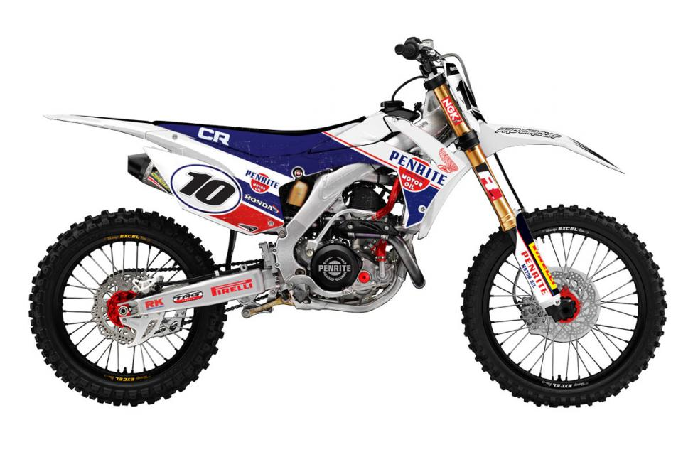 Check out this artist's rendering of the sweet Honda CRF450R Townley will be riding in at least one round of the Australian Nationals.
