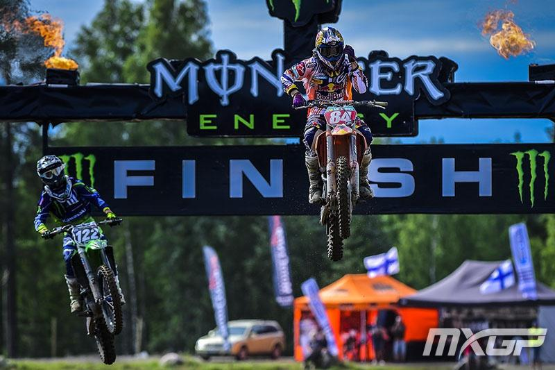 Jeffrey Herlings went 1-1 in the MX2 class in Finland.