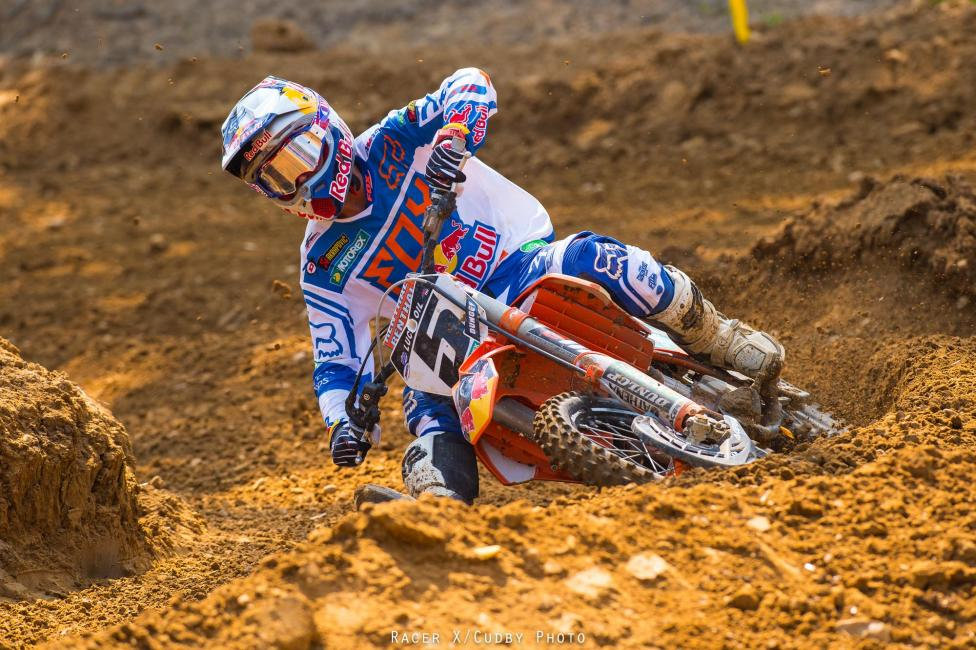 Ryan Dungey took the overall victory in the 450 class at Budds Creek