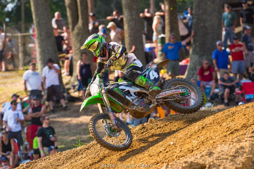 Blake Baggett won the overall in the 250 class at Budds Creek.