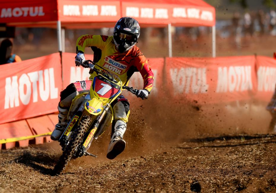 Matt Moss holds the MX1 points lead.  Photo: Jeff Crow