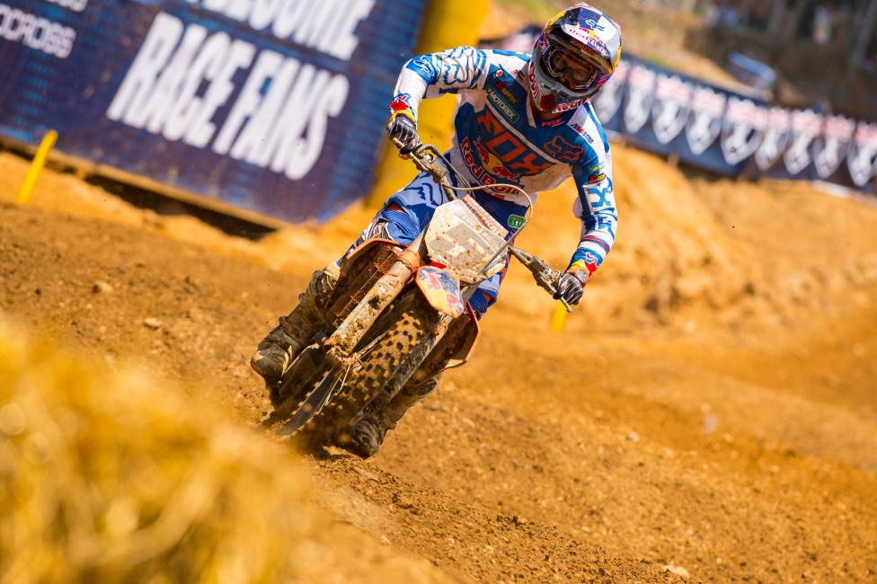Dungey went 2-1 for the overall on Saturday.  Photo: Simon Cudby