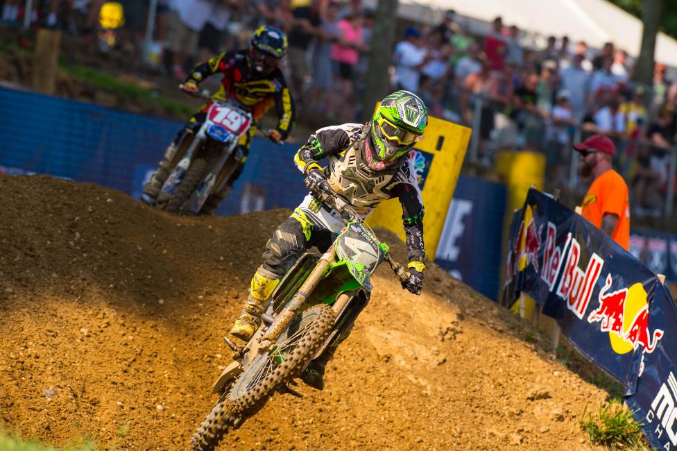 Baggett dominated the second moto to capture the overall.