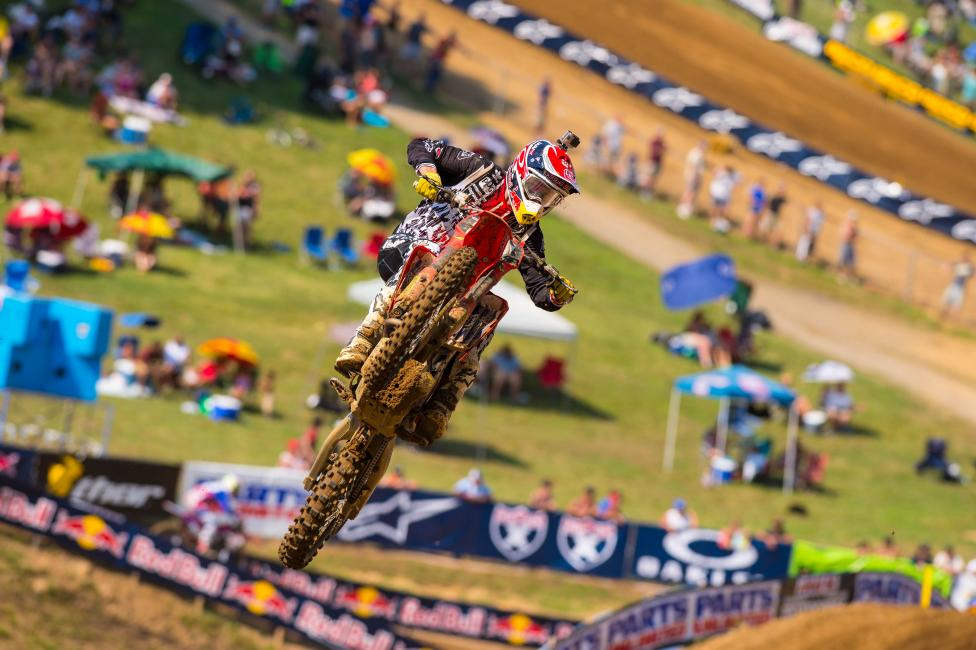 """It was really deep after the gate, and I just bogged down. My fault."" - Seely Photo: Simon Cudby"
