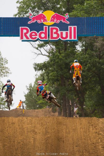 It was another Roczen/Tomac classic in the first 450 moto at Spring Creek.Photo: Cudby