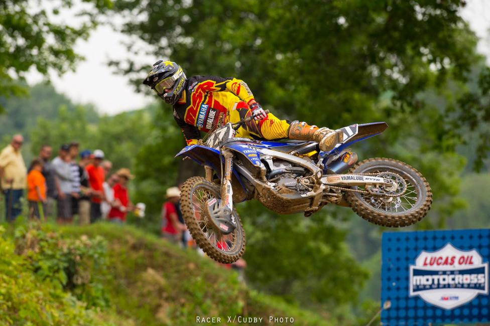 Cooper Webb crashed while trying to get into fifth in moto one, and came back for ninth. He was a man on a mission in moto two and came back for the win.