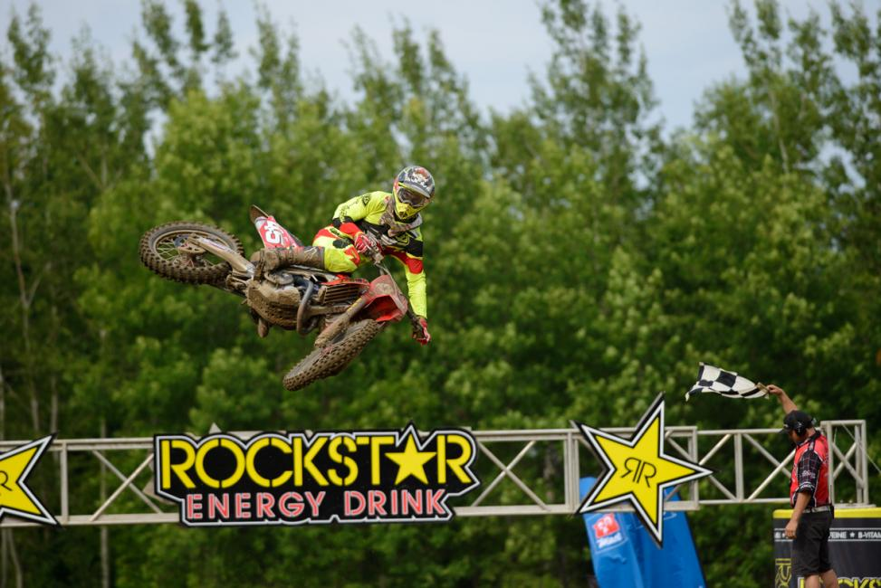 Colton Facciotti won the MX1 overall this weekend. Photo: James Lissimore