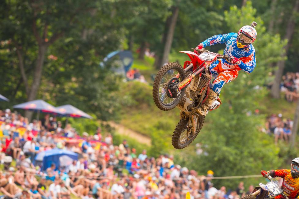Shane McElrath was back in action for TLD Honda.
