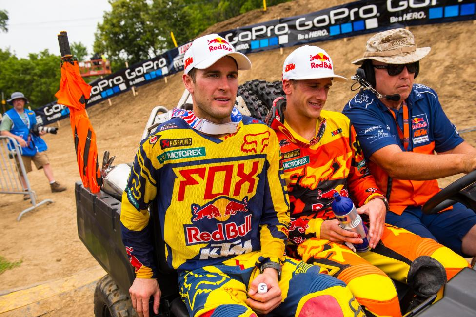Can Ryan Dungey (left) pull closer to Ken Roczen this weekend?