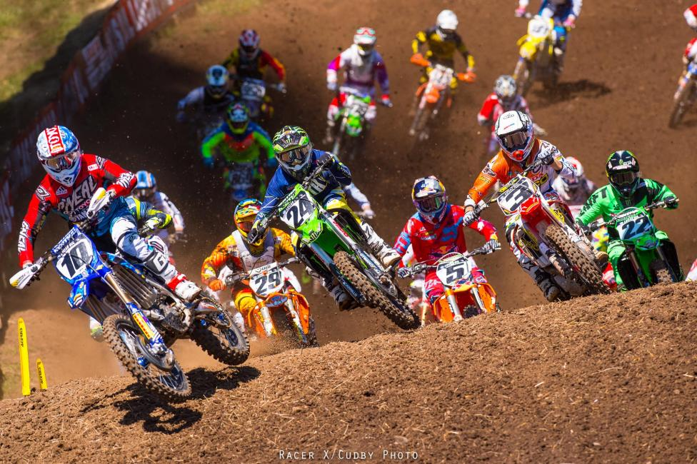 Justin Brayton and his JGR machine were holeshot artists in Washougal.Photo: Cudby