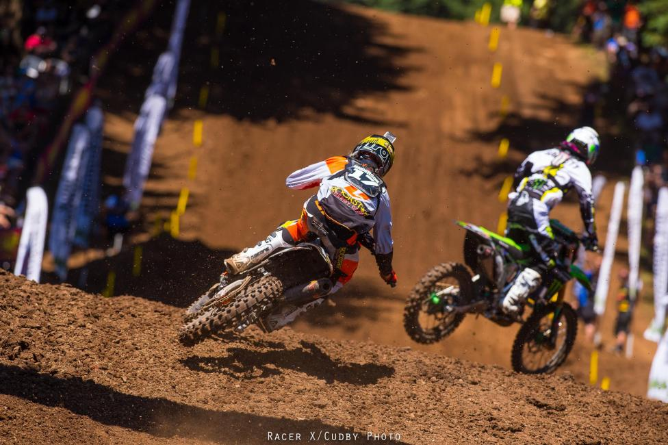 Anderson was on fire in Washougal until a big high-side ended his day.Photo: Cudby