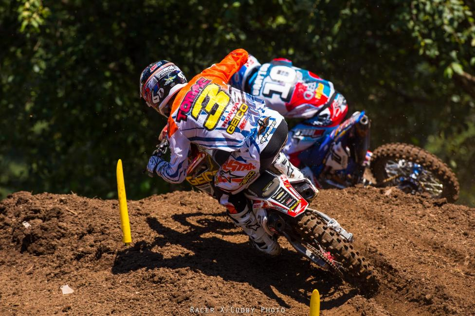 Tomac was good in Washougal, but Dungey was better.Photo: Cudby