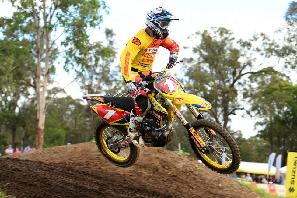 Matt Moss leads the MX1 Class in Australia. Photo: Jeff Crow