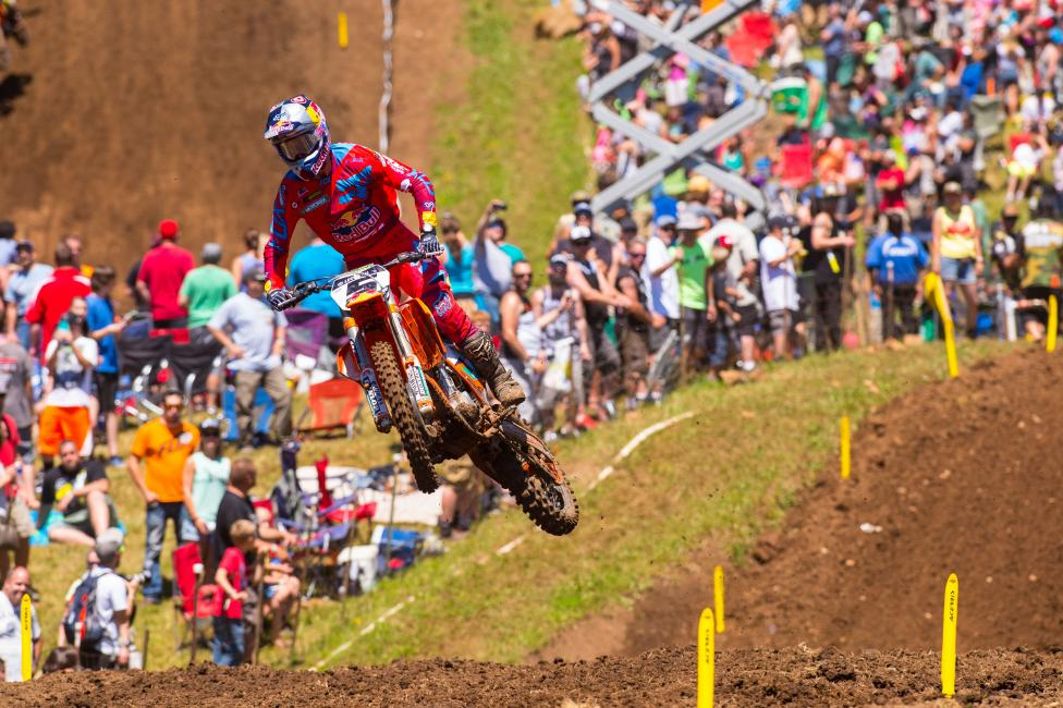 Dungey went 1-1 on Saturday to claim the overall.  Photo: Simon Cudby