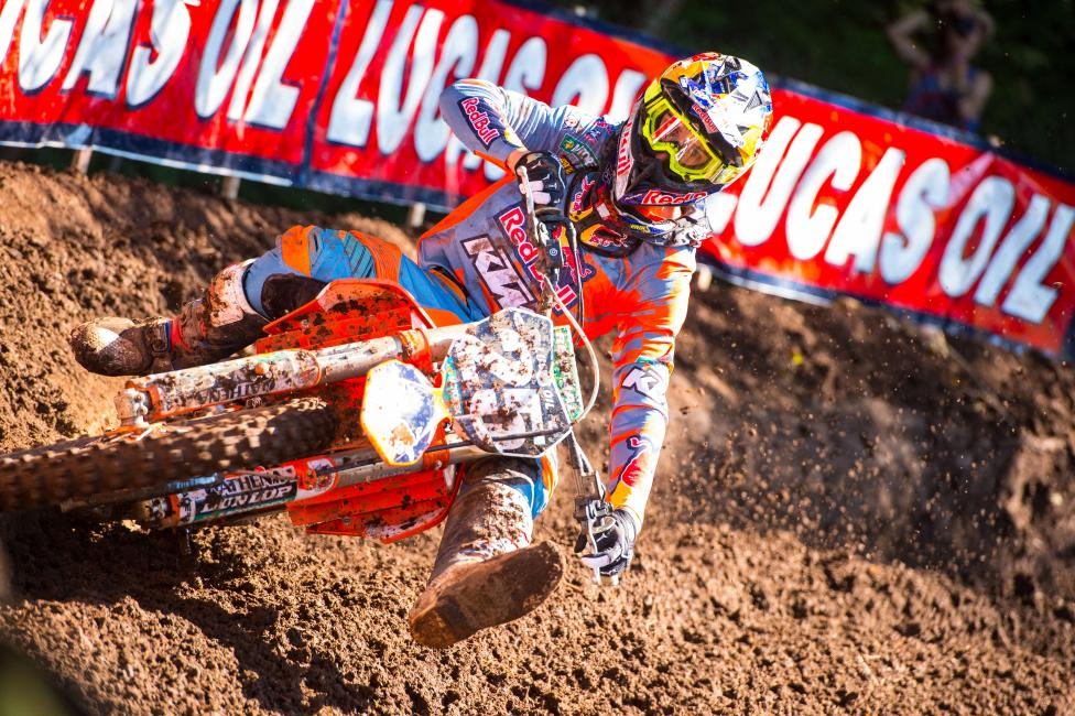 Musquin won his first overall in 2014 with a 1-1 performance at Washougal.  Photo: Simon Cudby