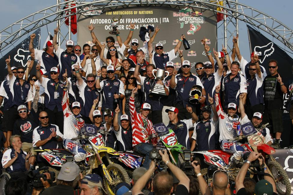 Tedesco was part of three Team USA victories at the Motocross of Nations.  Photo: Ray Archer