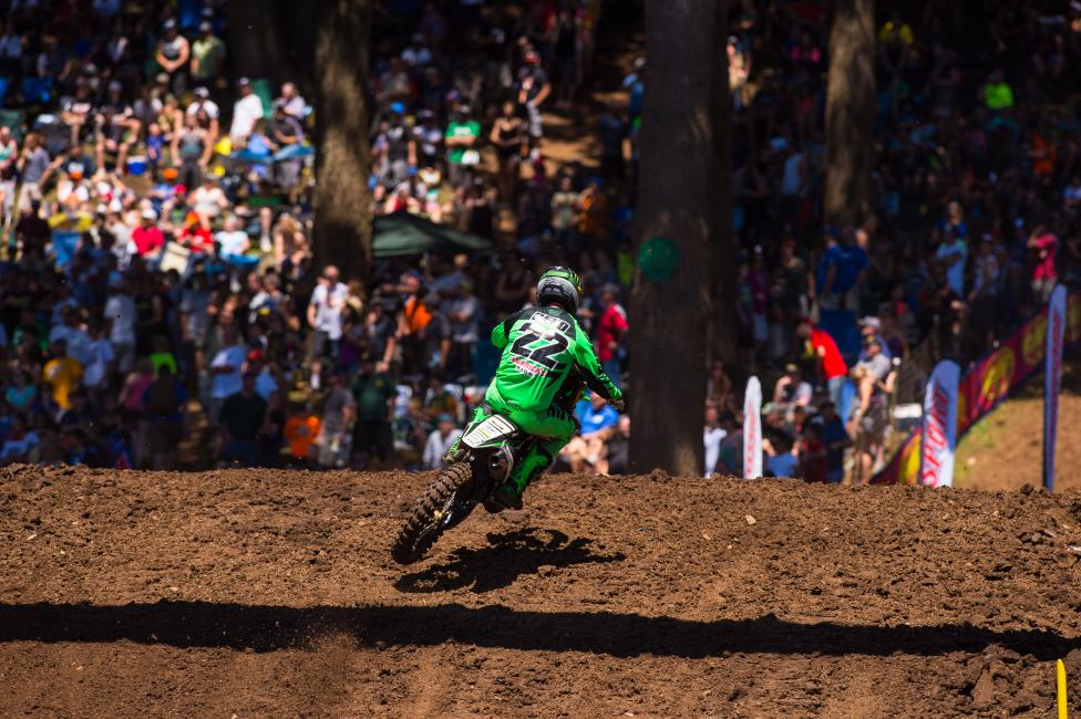 Chad Reed had to retire early from Washougal due to back pain.  Photo: Simon Cudby