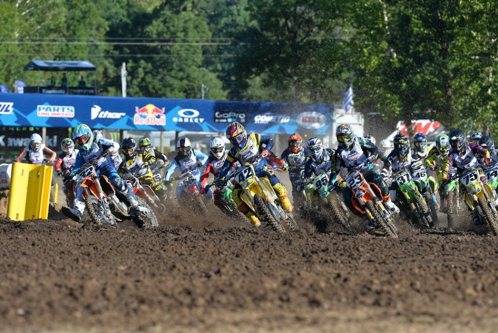 Twenty motos blasted off today.Photo: Ken Hill