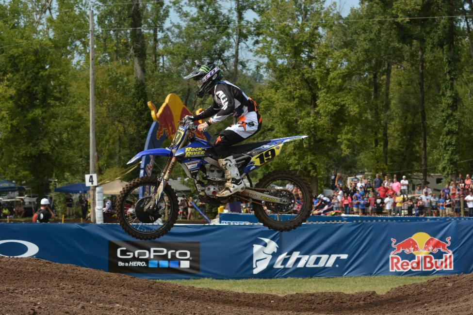 Bradley Taft snagged the 250 B limited moto win.Photo: Ken Hill