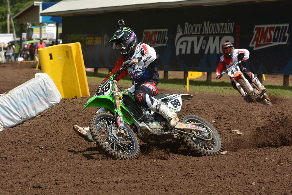 Chris Alldredge (88) rocked 450 A. Daniel Baker (44) gave chase, and has had a solid week so far.Photo: Ken Hill