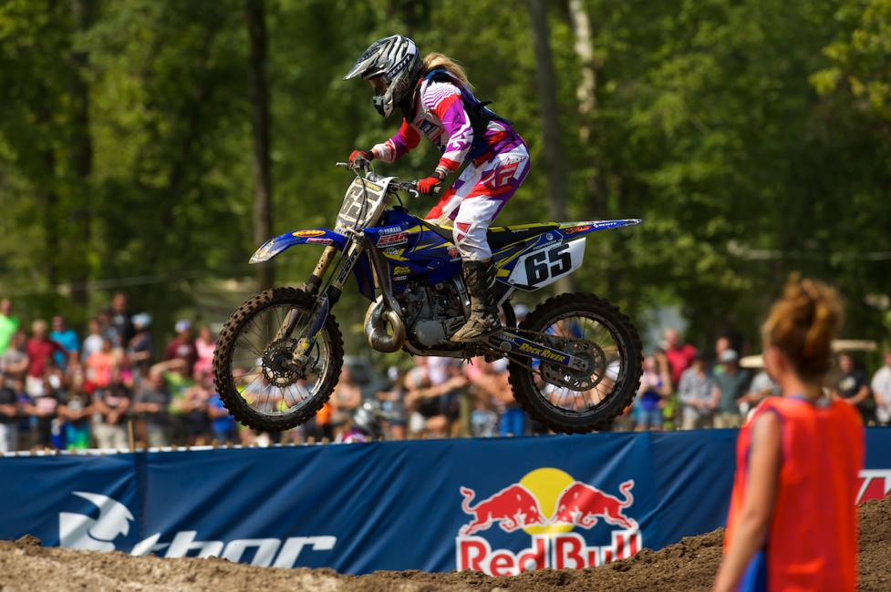 Kaitlyn Morrow has been one to watch in the Women (+14) class, on a 250 two-stroke!Photo: Christian Munoz