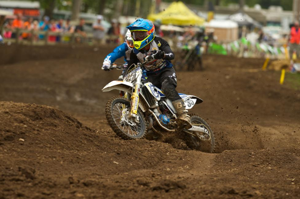 It's good to see Husqvarna riders here, like Jalek Swoll, in title contention at the ranch.