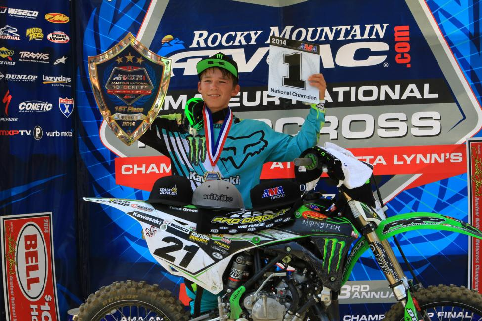 Austin Forkner won the Super Mini 2 class in his final mini race.