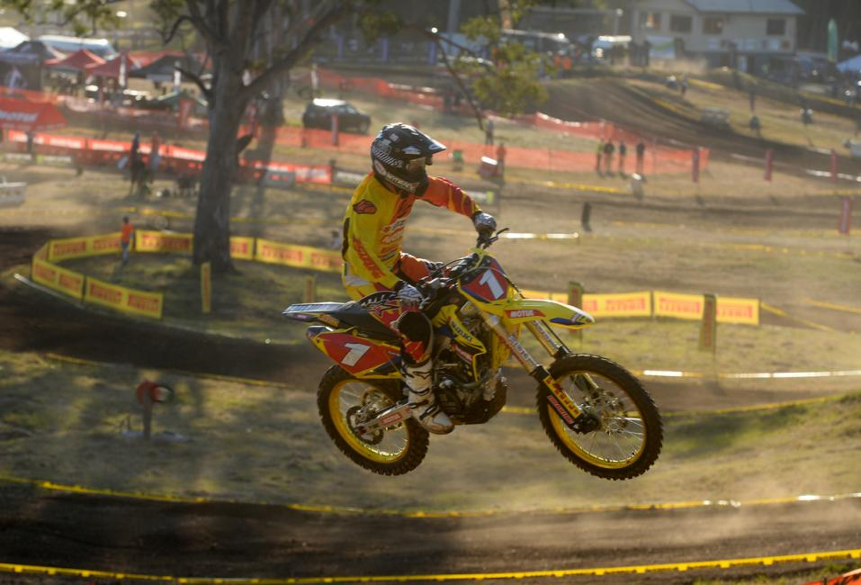 Matt Moss leads the MX1 Class. Photo: Jeff Crow