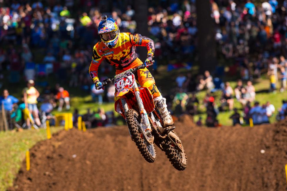 Ken Roczen leads the 450 Class points stadings.