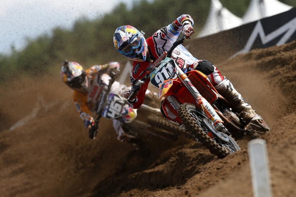 Jordi Tixier is quickly approaching Jeffrey Herlings' MX2 points lead.