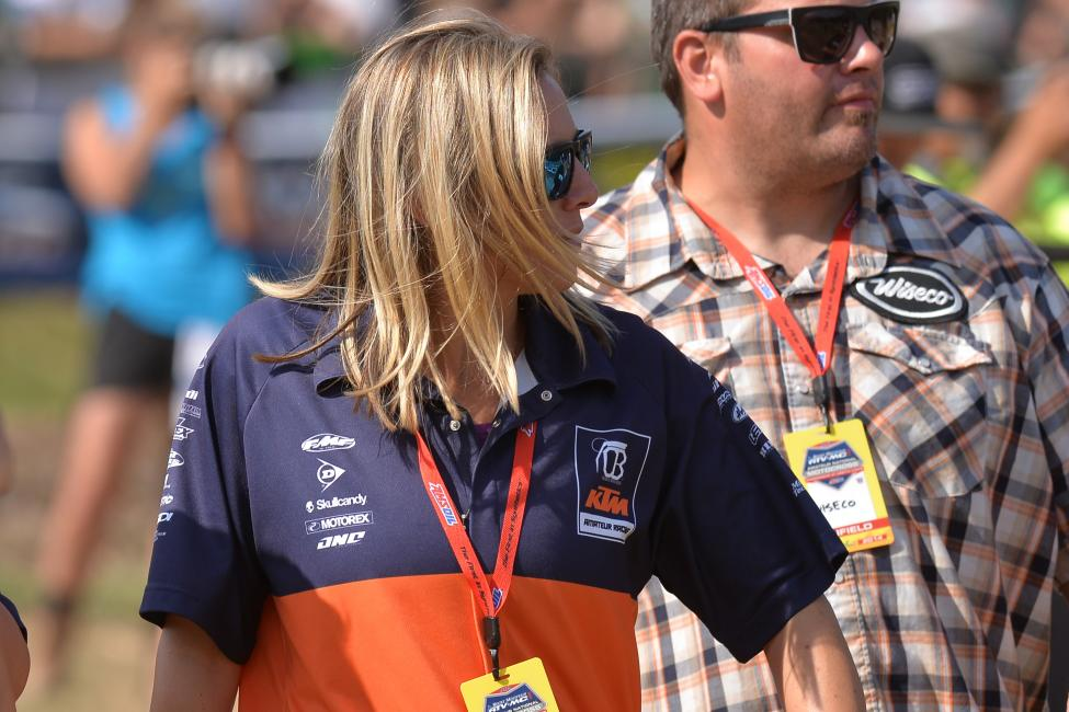 LaCruelle grew up in a racing family and was already working at KTM while she was attending college.Photo: Ken Hill