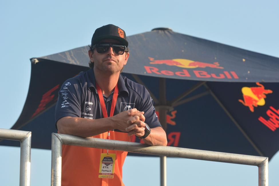Former KTM factory rider Nate Ramsey is now on board as a riding coach for KTM's amateur riders.