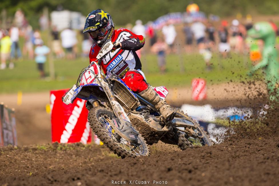 Jeremy Martin won the second moto and is nearing his first career title.  Photo: Simon Cudby