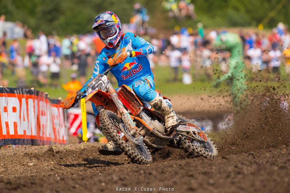 Ryan Dungey won the 450 class overall at Unadilla.
