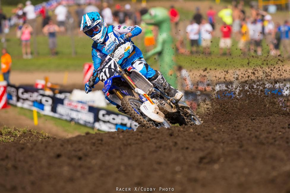 Christophe Pourcel won the overall in the 250 class at Unadilla.