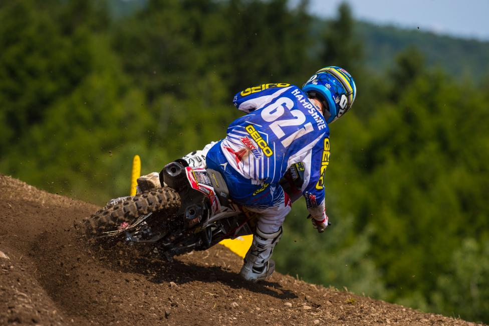 """""""The track was gnarly today. It was tough, real tough."""" - RJ Hampshire Photo: Simon Cudby"""