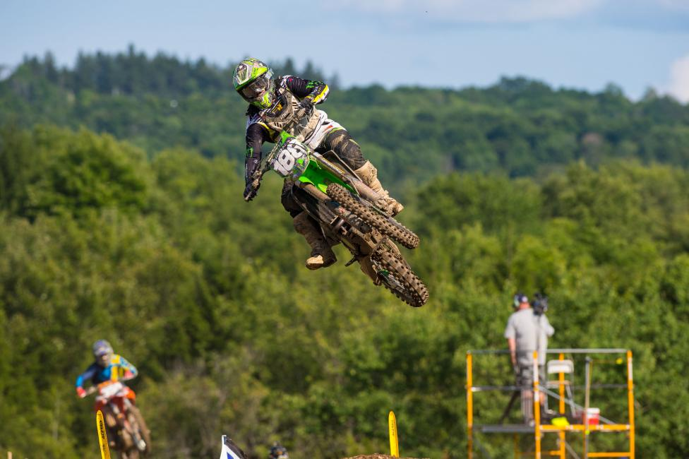 Alldredge finished eighth overall in his pro debut at Unadilla.