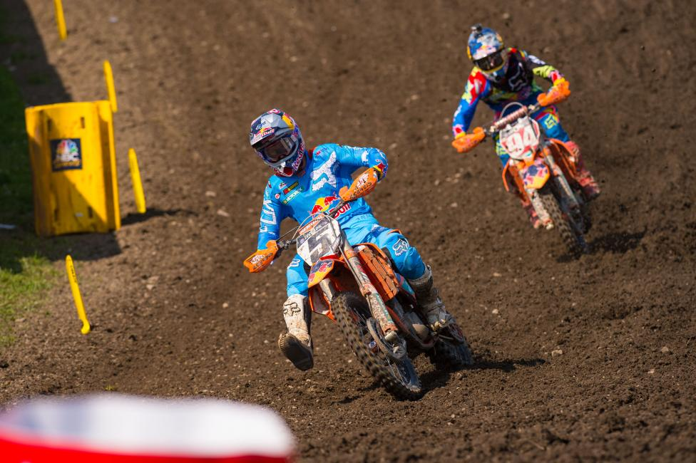 While Tomac is making a difference, the title will come down to the wire between Ryan Dungey (5) and Ken Roczen.