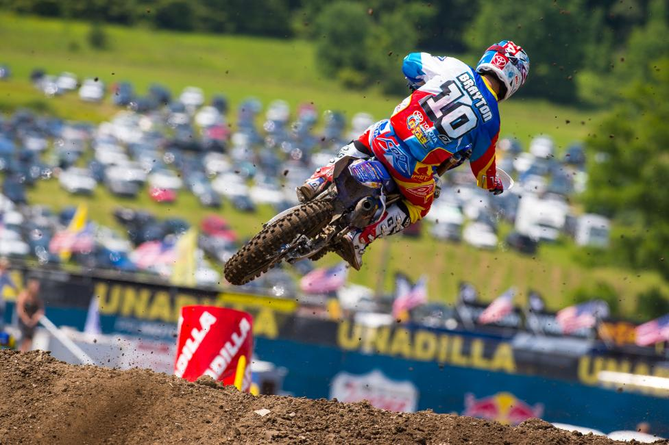 Justin Brayton has been solid outdoors this year.